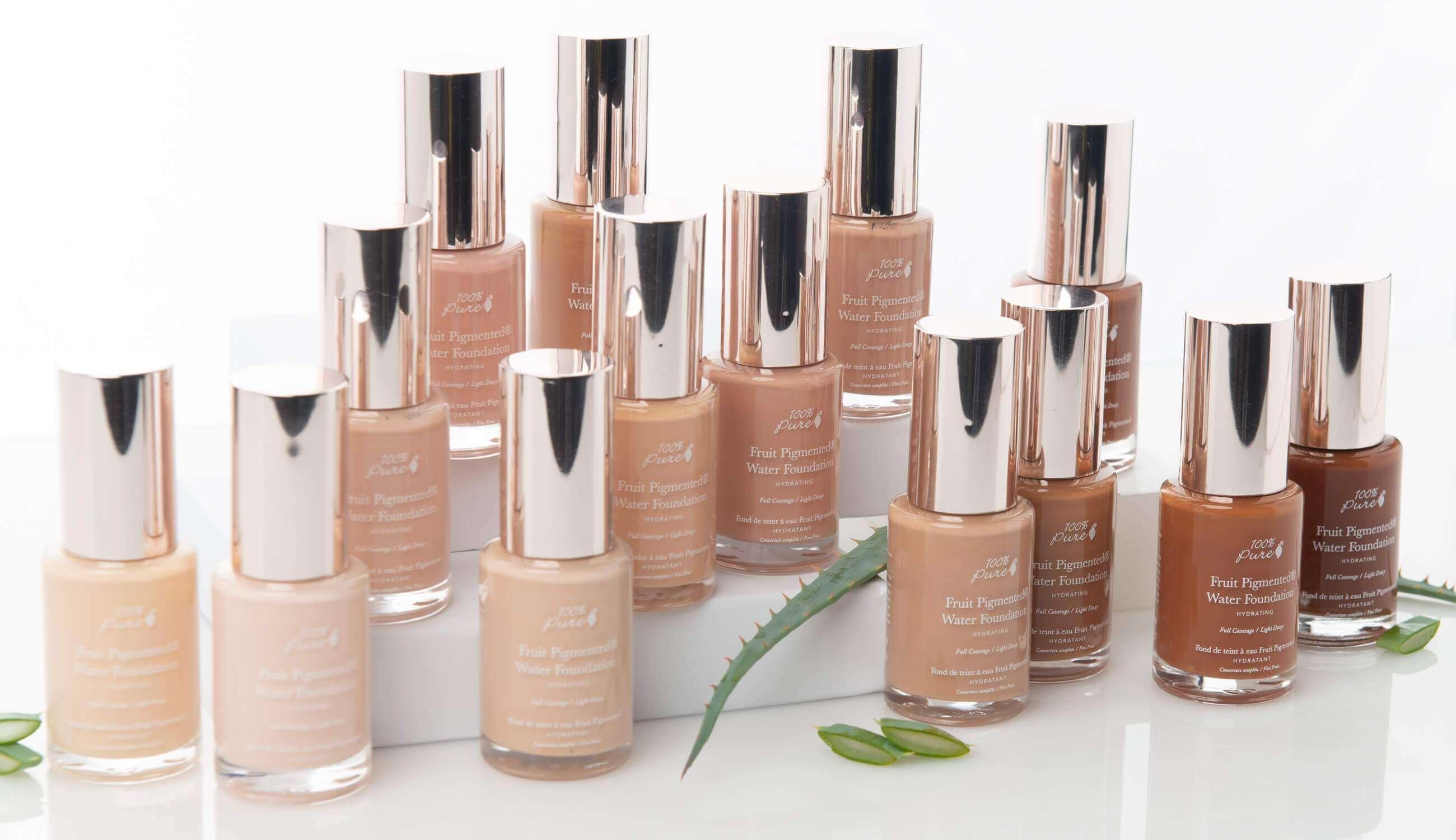 Ľahký makeup s obsahom aloe vera, s prírodným zložením od značky 100percent pure
