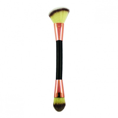 Makeup Revolution Obojstranný štetec na make-up a kontúry Brush Flex 03 Sculpt and Contour
