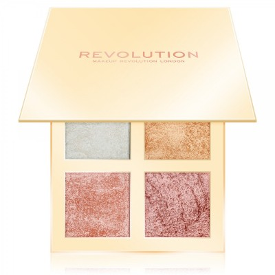 Makeup Revolution Paleta rozjasňovače Face Quad