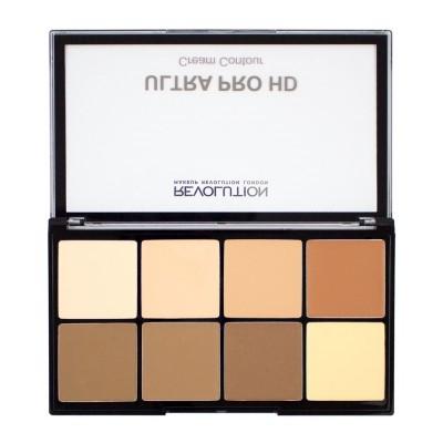 Makeup Revolution Krémová paleta na kontúrovanie HD Pro Cream Contour