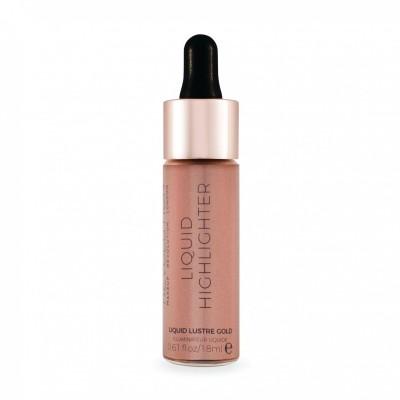 Makeup Revolution Tekutý rozjasňovač Liquid Highlighter Lustre Gold