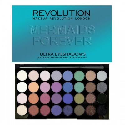 Makeup Revolution Paleta očných tieňov Mermaids Forever