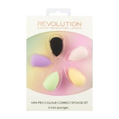 Makeup Revolution Houbičky na make-up nebo korektor Mini Pro Colour Correct Sponge Set
