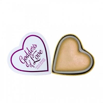 I♥Revolution Rozjasňovač Blushing Hearts Highlighter Golden Goddess