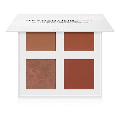 Makeup Revolution PRO, 4K Bronzer Palette Warm, paletka bronzerů