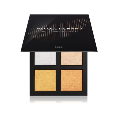 Makeup Revolution PRO 4K Highlighter Palette Gold Paleta rozjasňovačov