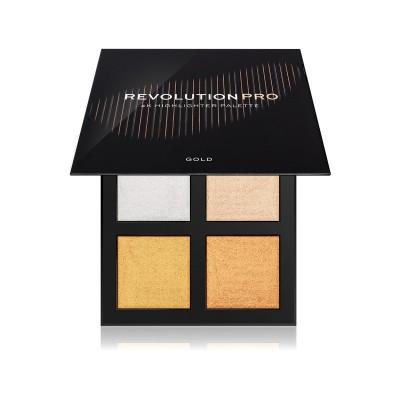 Makeup Revolution PRO 4K Highlighter Palette Gold Paleta rozjasňovačov