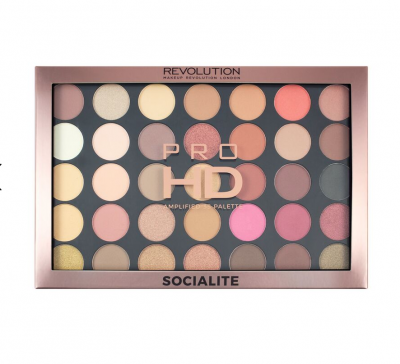 Makeup Revolution Paleta očních stínů Pro HD Palette Amplified 35 Socialite