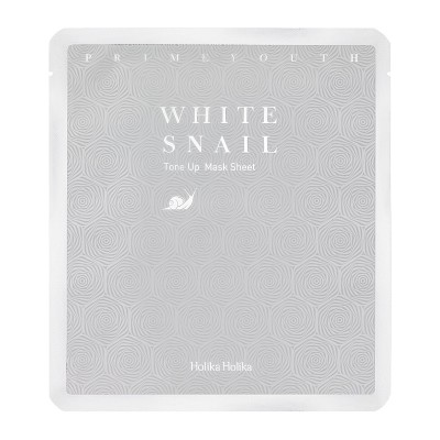 Holika Holika Pleťová maska s filtrátom zo slimáka Prime Youth White Snail Tone Up Mask Sheet