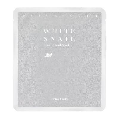 Holika Holika Pleťová maska s filtrátom zo slimáka Prime Youth White Snail Tone Up Mask Sheet
