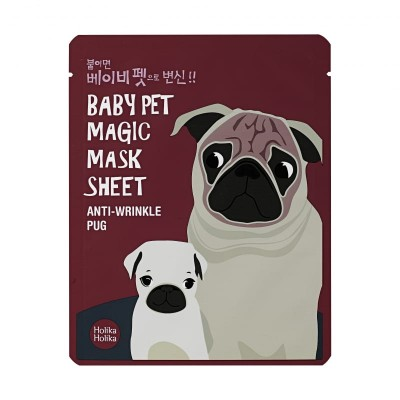 Holika Holika Omladzujúca maska na tvár Baby Pet Magic Mask Sheet Anti-Wrinkle Pug