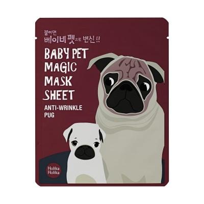 Holika Holika Omladzujúca maska na tvár Baby Pet Magic Mask Sheet Anti-Wrinkle Pug