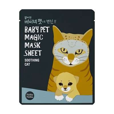 Holika Holika Upokojujúca maska na tvár Magic Baby Pet Soothing Cat