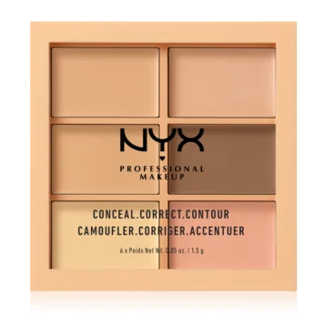 NYX Professional Makeup Paletka korektorů Conceal Correct Contour Light