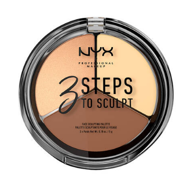 NYX Professional Makeup Kontúrovacia paletka na tvár 3 Steps To Sculpt Light