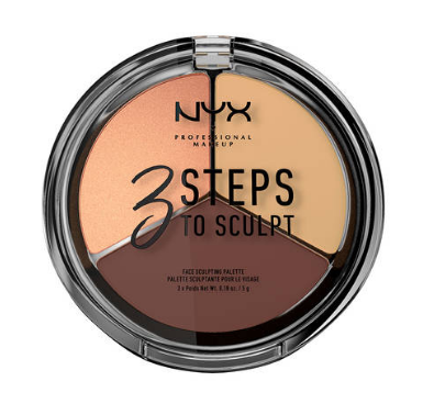 NYX Professional Makeup Kontúrovacia paletka na tvár  3 Steps To Sculpt  Medium