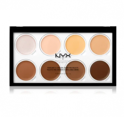 NYX Professional Makeup Kontúrovacia paletka na tvár Highlight and Contour Cream Pro