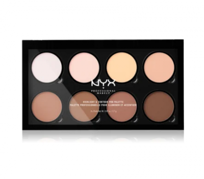 NYX Professional Makeup Kontúrovacia paleta na tvár Highlight And Contour Pro