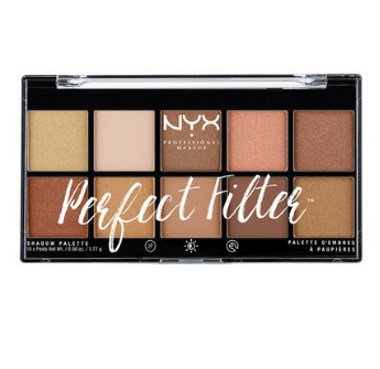 NYX Professional Makeup Paletka očných tieňov  Perfect filter shadow Golden Hour