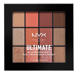 NYX Professional Makeup Paletka očných tieňov Ultimate Multi-Finish Warm Rust