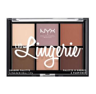 NYX Professional Makeup Paletka 6 prechodových tieňov Lid Lingerie