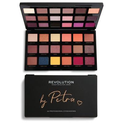 Makeup Revolution X Petra Paleta očných tieňov