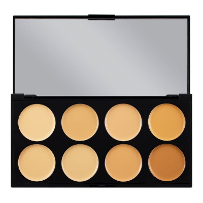 Makeup Revolution Paleta korektorov Ultra Cover and Concealer Palette Light