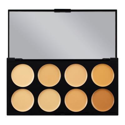 Makeup Revolution Paleta korektorov Ultra Cover and Concealer Palette Light