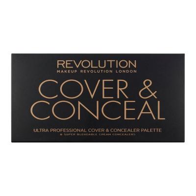 Revolution, Ultra Cover and Concealer Palette Light, paletka korektorů
