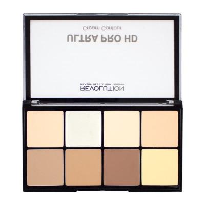 Makeup Revolution Krémová paleta na konturování HD Pro Cream Contour