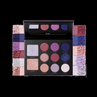 Milani Paleta stínů na oči a tvář Gilded Violet Hyper-Pigmented Eye & Face Palette