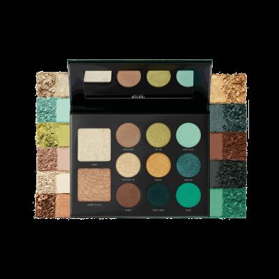 Milani Paleta stínů na oči a tvář Gilded Jade Hyper-Pigmented Eye & Face Palette