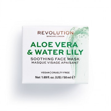 Revolution Skincare Aloe Vera & Water Lily Soothing Face Mask Maska na obličej