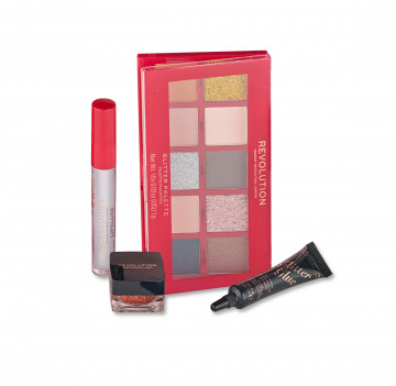 Makeup Revolution Dárková sada Glitter & Shimmer kit