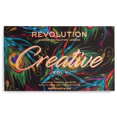 Makeup Revolution Paleta očných tieňov Creative Vol 1.