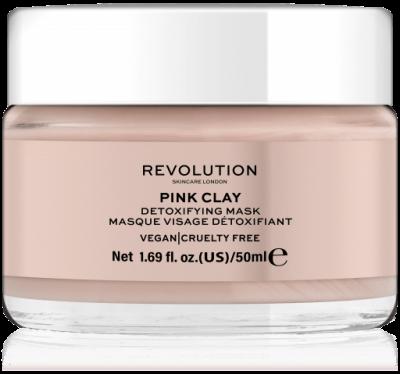 Revolution Skincare Pink Clay detoxifying Face Mask Maska na obličej