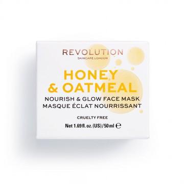Revolution Skincare Honey & Oatmeal Nourish &  Glow Face Mask Maska na tvár