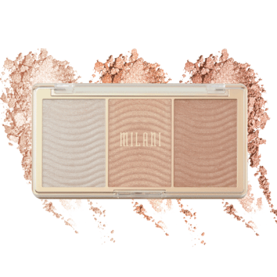Milani Cosmetics Stellar Lights Highlighter Palette Rose Glow Paletka rozjasňovačů