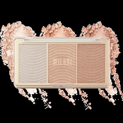 Milani Cosmetics Stelar Lights Highlighter Palette Rose Glow Paleta rozjasňovačov
