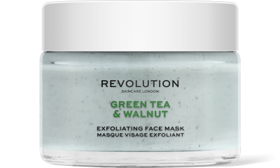 Revolution Skincare  Green Tea & Walnut Exfoliating Maska na tvár