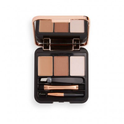 Makeup Revolution Souprava na úpravu obočí Brow Sculpt Kit Brown