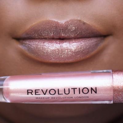 Makeup Revolution Lesk na rty Precious Stone Lip Topper Rose Quartz