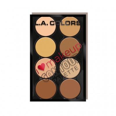 L.A. Colors Kontúrovacia paleta I Heart  Makeup Contour Palette