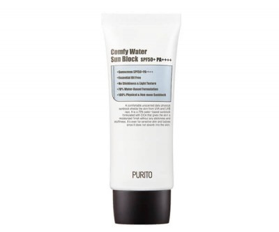 PURITO Comfy Water Sun Block Krém na obličej s SPF 50