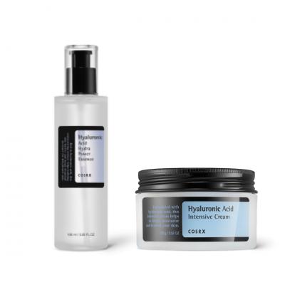 COSRX Hydratačné duo Pleťový krém Hyaluronic Acid Intensive Cream + Esencia s kyselinou hyalurónovou Hyaluronic Acid Hydra Power Essence