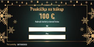 Vianočná darčeková poukážka v hodnote 100€