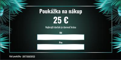 Darčeková poukážka v hodnote 25€