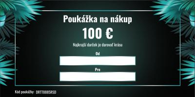 Darčeková poukážka v hodnote 100 €