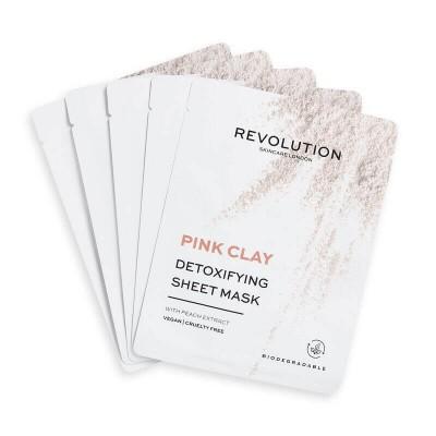 Revolution Skincare Sada pleťových masek s detoxikačním účinkem Pink Clay (5x)