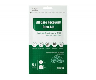 PURITO Protizánětlivé Uklidňující náplasti All Care Recovery Cica-Aid